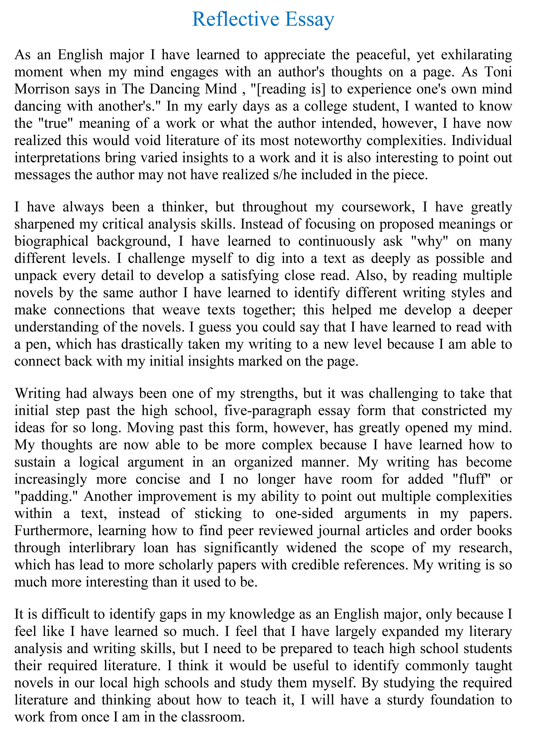 writing a reflection essay writing a reflection essay tk